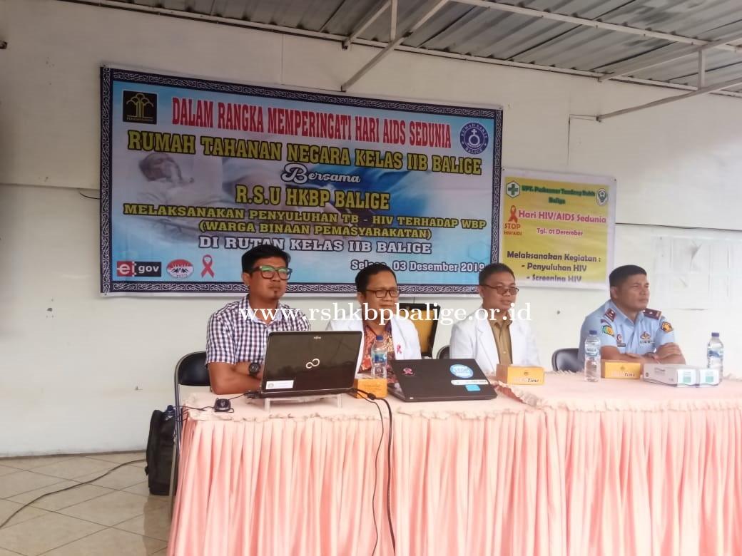 Kegiatan Promosi Kesehatan Mengenai TB-HIV AIDS Terhadap Warga Binaan Pemasyarakatan Rutan Kelas IIB